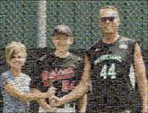 family group baseball sports parents distant distance people portrait faces