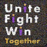 unitefightwin unite fight win text logos together