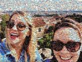 friends girls sunglasses people faces fun group selfie vacation