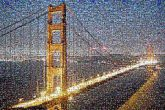 bridges Golden Gate outdoors aerial beautiful sunsets sunrises city landscape lights