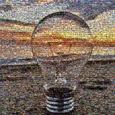lightbulb beach sunset ocean water sane landscape objects