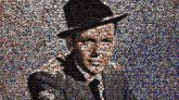 Frank Sinatra singers performers artists famous celebrity portraits fans portraits hats faces features posters