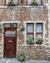 homes houses windows facades buildings bricks doors sidewalk city towns quaint neighborhoods