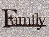 family words letters type text banners posters serifs