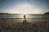 anniversary love wedding marriage couple beach sky sunset water sand
