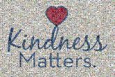 kindness matters community sayings quotes hearts love organizations text words letters graphics cursive script