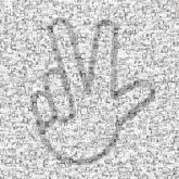 hands symbols illustrations graphics lines shapes pride love win victory