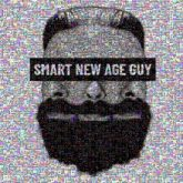 beard man aesthetic smart guy masculine grayscale