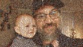 father son dad kids children baby infant faces portraits selfies man glasses