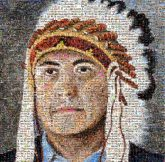 people portraits paintings headdress Native Americans First People man men