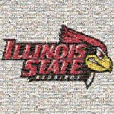 Illinois State Redbirds sports baseball softball mascots logos text