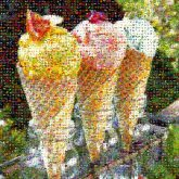 ice cream cones food sweets desserts colorful fruits vegetables