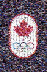 olympics canada canadian symbols icons graphics logos pride unity teams sports competitions shapes leaf rings