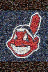 Cleveland Indians Ohio baseballs mascots logos designs illustrations MLB sports teams fans