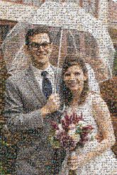 weddings ceremony ceremonies raining umbrellas brides grooms posing portraits smiling love people persons together bouquets