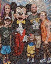 Mickey Disney family families vacations fans groups people smiling together posing portraits distance figures