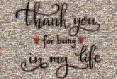 thank you messages quotes love hearts symbols icons words letters text script cursive