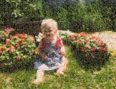 outdoors portraits people faces person kids children toddlers girls nature flowers