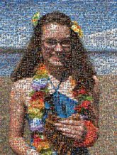 tropical beach vacation portrait smile lei young girl portrait