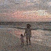 family siblings kids children vacations travel silhouettes beaches ocean shore summer people
