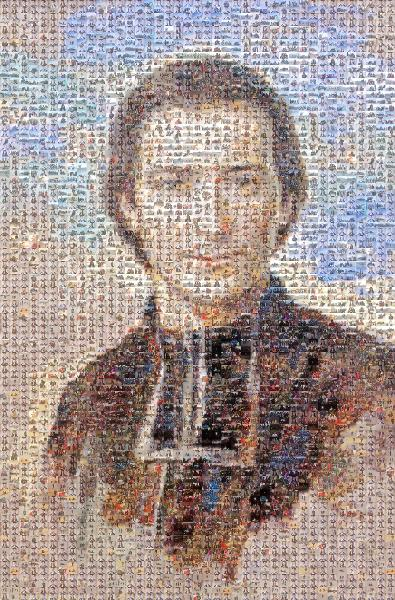 Illustrated Portrait photo mosaic