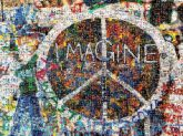 imagine words letters text inspirational peace signs symbols icons graffiti art drawings paintings illustrations