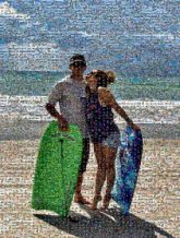 portraits outdoors vacations travel trip boogie boards man woman people person