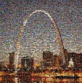 gateway arches architecture structures landmarks cities cityscape night travel st louis