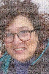 smiling woman portraits faces close up glasses person