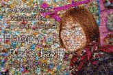 happy birthday messages portraits people faces woman mom mothers text words letters wishes abstract graphics person