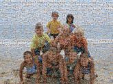 group children child family portraits outdoors vacation trips beach