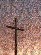 crosses symbols silhouettes sunsets gradients church religion religious