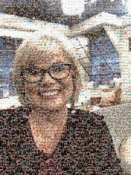 Self Portrait photo mosaic