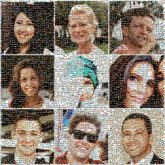 people faces friends portraits borders grids layouts collages sunglasses man woman person