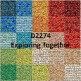exploring together words text letters graphics shapes squares color blocks community