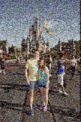 disney world vacations castles theme parks amusements couples people faces distant distance fun man woman love