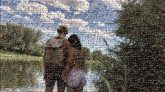 young people couples love man woman holding hands outdoors adventure outside lakes trees landscapes nature