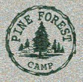 pine forest camp emblems logos graphics trees camping kids