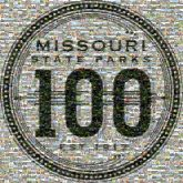 missouri state parks anniversary 100 years letters text words logos shapes lines celebration celebrate