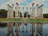 reflections landscapes columns structures lakes architecture outdoors