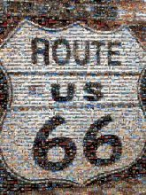 U.S. Route 66 Amboy Sign Road US Numbered Highways Route Adult T-Shirt Bar