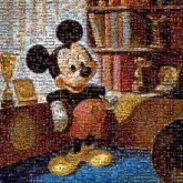 Mickey Mouse Minnie Mouse The Walt Disney Company Birthday Anniversary Artist Art Party Printing
