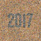 2017 new years numbers text simple