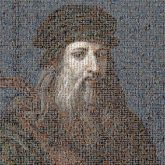 Leonardo da Vinci Renaissance Mona Lisa Drawing Art Artist Leonardo: The Man Behind the Shroud Louvre Museum Painting The Virgin and Child with St. Anne Facial hair Beard Portrait Moustache Male Gentleman Headgear Elder