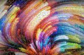 colors abstract artistic painting splash