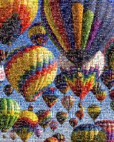 birthdays hot air balloons 70th outdoors colorful skies