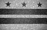 Washington Flag of Washington, D.C. Illustration Stock photography Sky Font Black-and-white