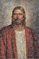 Jesus The Church of Jesus Christ of Latter-day Saints Book of Mormon Mormonism Religion The Church of Jesus Christ of Latter-day Saints Jesus the Christ Christianity Stake Portrait Painting Facial hair Beard Art Elder Prophet Guru Self-portrait
