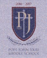 Pope John XXIII Regional High School John XXIII Middle School Middle school School Pope Reverend George A. Brown Memorial School Logo Font Trademark Crest Graphics Brand