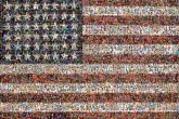 Flag Jasper Johns, flags The Museum of Modern Art Painting Art Art museum Artist Flag of the United States Work of art Red Pattern Design Flag Day (USA) Independence day Rectangle Veterans day